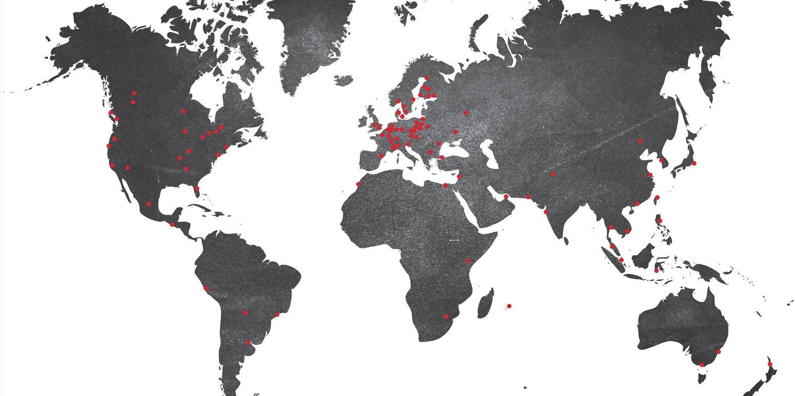 Prominate Global Map