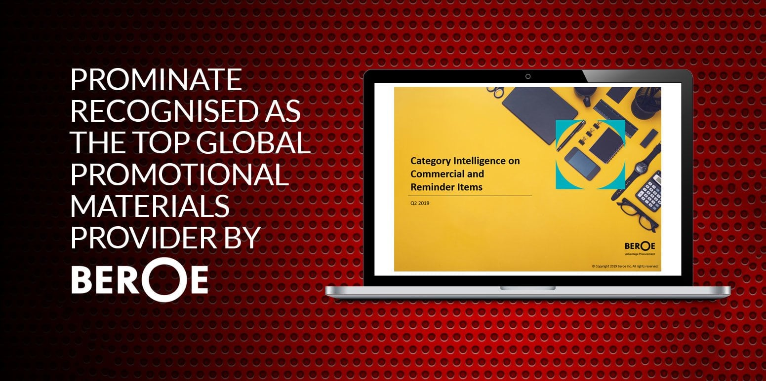 Prominate Recognized As The Top Promotional Materials Provider By Beroe Live