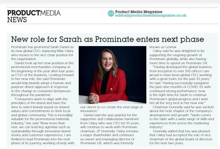 Sarah Daniel from Prominate featured in BPMA
